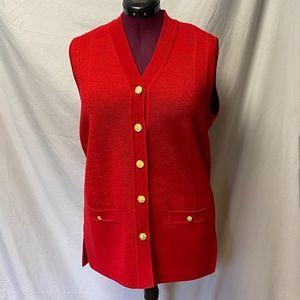 Blarney Woolen Mills sleeveless cardigan